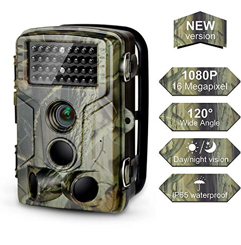 DIGITNOW Trail Camera 16MP 1080P FHD Waterproof, Wildlife Hunting Scouting Game Camera with 42Pcs LED, 3 PIR Sensors, Surveillance Camera Wide Angle 120° Detection