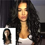Enoya Hair 360 Lace Frontal Loose Wave Human Hair Wigs-Glueless 180% Density Brazilian Virgin Remy Wigs with Baby Hair (22')