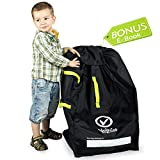 VolkGo Durable Car Seat Travel Bag with Bonus e-Book -- Ideal Gate Check Bag for Air Travel & Saving Money -- for Safe & Secure Car Seat -- Fits Car Seats, Infant Carriers & Booster