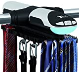 Tech Tools Automatic Revolving Tie and Belt Rack with Bottom Hooks and Built-in LED Light