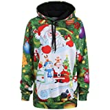 Product review for Leoy88 3D Christmas Santa Claus Snowman Print Cute Kangaroo Pocket Sweatshirt Hoodies Pullover