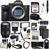 Sony Alpha A7R III 4K Wi-Fi Digital Camera Body with FE 24-240mm Lens + 128GB + Battery & Charger + Case + Tripod + Filters + Flash + LED + Mic + Kit