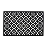 DII Indoor Outdoor Rubber Easy Clean Entry Way Welcome Doormat, Floor Mat, Rug For Patio, Front Door, All Weather Exterior Doors, 18 x 30' - Lattice