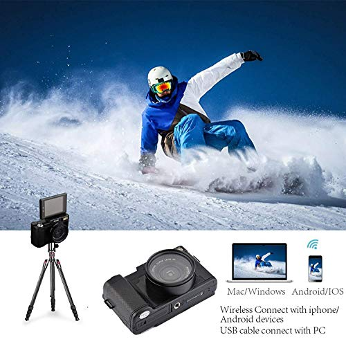 Digital Camera Vlogging Camera 24MP Ultra HD 2.7K WiFi YouTube