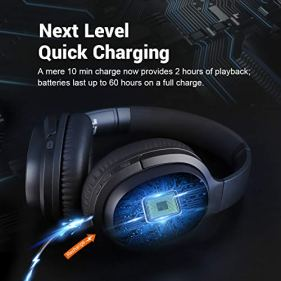 EKSA-Noise-Cancelling-Headphones-60-Hrs-Playtime-Bluetooth-50-ANC-Wireless-Headphones-Over-Ear-Headset-with-Quick-Charge-CVC-80-Mic-Soft-Protein-Earpads-Hi-Fi-Deep-Bass-for-Business-Travel