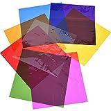 Outus Cello Sheets Cellophane Wraps, 8 by 8 Inch, 8 Colors, 104 Pieces (8 Colors)