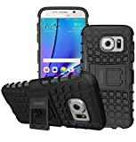 Galaxy S7 Case, OEAGO Samsung Galaxy S7 Cover Accessories - Tough Rugged Dual Layer Protective Case with Kickstand for Samsung Galaxy S7 - Black