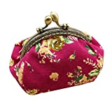Vintage Small Wallet for Women, Huazi2 Lady Retro Flower Hasp Purse Clutch Bag Coin Purse