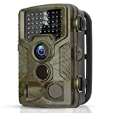 BYbrutek Trail Camera, 16MP 1080P Full HD Deer Hunting Game Camera, 0.2S Motion Activated Wildlife Camera with 46 PCS 850nm IR LEDs Night Vision up to 65ft, 2.4' LCD Display, IP56 Waterproof (H881)