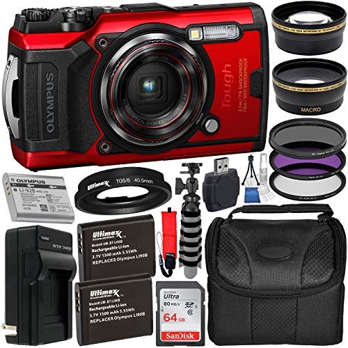 Olympus-Tough-TG-6-Digital-Camera-with-Deluxe-Accessory-Bundle--Includes-SanDisk-Ultra-64GB-SDXC-Memory-Card-2X-Sellers-Replacement-Batteries-with-Charger-Adapter-Tube-Much-More