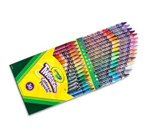Crayola Twistables Colored Pencils Coloring Set, Gift Age 3+ – 50Count & Ultra Clean Washable Broad Line Markers, 40 Classic Colors, Gift For Kids