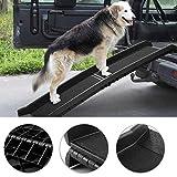 Tobbi Portable Dog Ramp for Large Pet Folding Trunk Back Seat Ladder Step Car SUV 62'