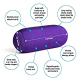 Cushie Pillows 3.5 inches x 8 inches Microbead Bolster Squishy/Flexible/Extremely Comfortable Roll Pillow - Purple