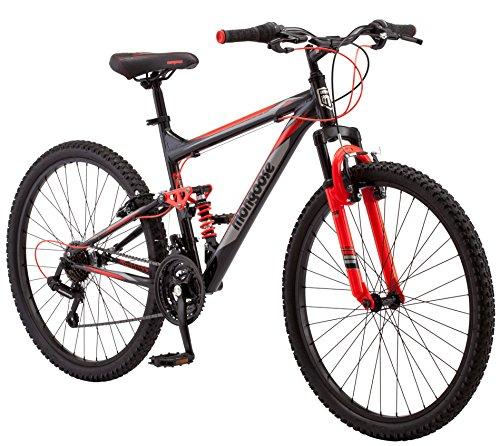 """Mongoose Status 2.2 26"""" Wheel men's bicycle, 18""""/medium frame size, black (R5500B)"""