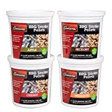 Camerons Smoking Wood BBQ Pellets (Apple, Cherry, Hickory, Mesquite)- 4 Pack of Pints Value Gift Set- All Natural Barbecue Smoker and Grilling Fuel