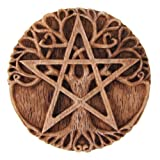 Dryad Design Small Tree Pentacle Wall Plaque Wood Finish