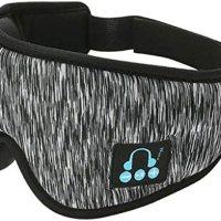 IPOTCH uyku kulaklığı, 3D göz maskesi, Bluetooth 5.0 kablosuz müzik maskesi, göz farı kapağı, göz farı kapağı, erkek kadın uyku, seyahat için, koyu gri 13