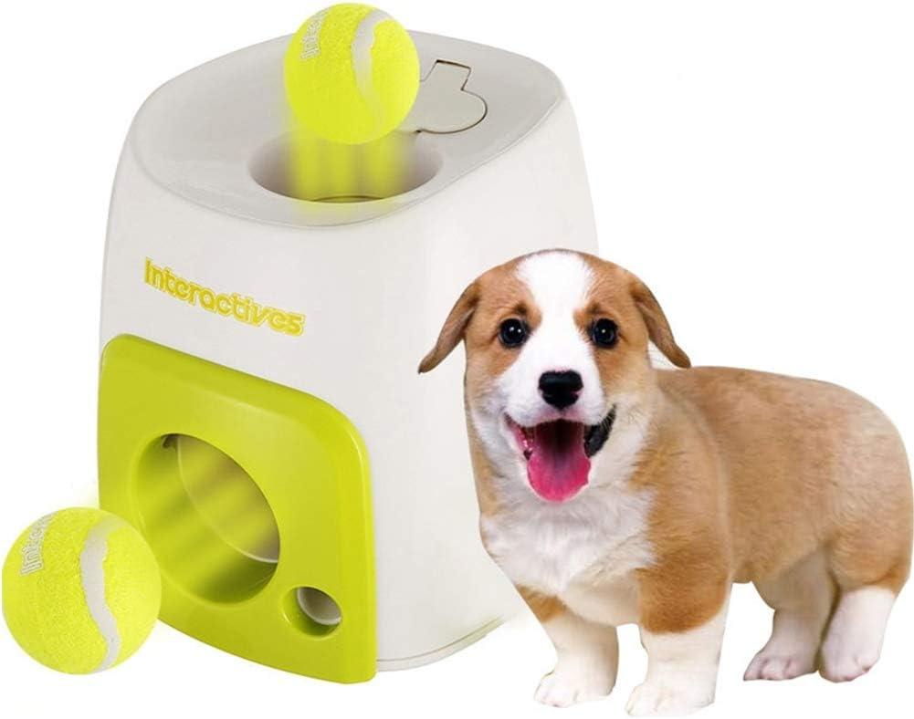 MOOUK Lanzador automático de Pelotas de Perro, Lanzador de Pelotas de Tenis para Perros, Juguete para Entrenamiento, Pelotas de Entrenamiento, Juguete para Mascotas pequeñas y Medianas