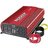 POTEK 5000W Power Inverter DC 12V to AC 110V Car Inverter 4 AC Outlets with 2 USB Outputs