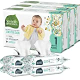 Seventh Generation Size 1 Diapers and Wipes Box - 120 Diapers with Animal Prints and 256 Wipes for Sensitive Skin (Packaging May Vary)