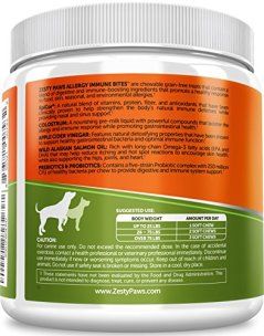 Allergy-Immune-Supplement-for-Dogs-Peanut-Butter-With-Omega-3-Wild-Alaskan-Salmon-Fish-Oil-EpiCor-Digestive-Prebiotics-Probiotics-Seasonal-Allergies-Skin-Itch-Hot-Spots-90-Chew-Treats