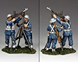 King & Country Royal Air Force RAF065 R.A.F. Anti Aircraft Bren Gun Team 1:30 Scale Pewter