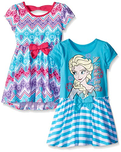 Disney Girls' 2 Pack Frozen Elsa Dresses