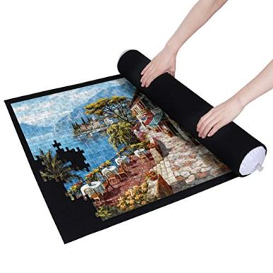 Becko-Puzzle-Roll-Jigsaw-Storage-Felt-Mat-Jigroll-Up-to-1500-Pieces-Environmental-Friendly-Material-for-Jigsaw-Puzzle-Player-Box-with-Drawstring-Storage-Bag