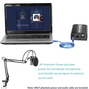 Neewer-NW-700-Condenser-Microphone-Kit-with-USB-48V-Phantom-Power-Supply-NW-35-Suspension-Scissor-Arm-Stand-Shock-Mount-Pop-Filter-for-Home-Studio-Recording-Broadcast-YouTube-Live-PeriscopeBlack