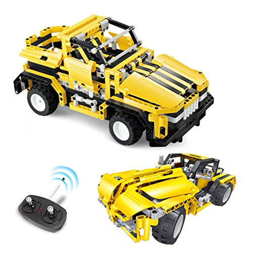 Remote Control Jeep/Car for Girls & Boys, Engineering Educational STEM Toy, RC Car Building Blocks Set, Creative Construction Learning Kit for Kids Age 7-15 Year-Old, Top Birthday Gift Idea for Teens