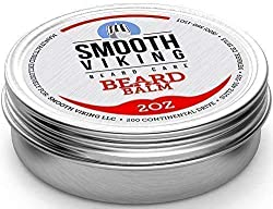 Beard Balm with Leave-in Conditioner- Styles, Strengthens & Thickens for Healthier Beard Growth, While Argan Oil and Wax Boost Shine and Maintain Hold- 2 oz Smooth Viking  Image 1
