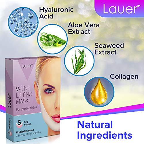 V Shaped Slimming Face Mask Double Chin Reducer V Line Lifting Mask Neck Lift Tape Face Slimmer Patch For Firming and Tightening Skin 3