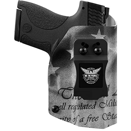 We The People - 2nd Amendment Right Hand Inside Waistband Concealed Carry Kydex IWB Holster Compatible with Sig Sauer P365 Micro Compact 9MM Gun