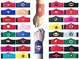 36 Pack Superhero Bracelet for Kids Boys & Girls Superhero Birthday Party Supplies Favors,Superhero Felt Bangle