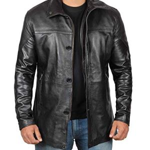 Mens Black Leather Jacket | Real Lambskin Motorcycle Jackets & Coat 26 Fashion Online Shop gifts for her gifts for him womens full figure