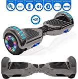 NHT 6.5' Chrome Edition Hoverboard Self Balancing Scooter w/LED Wheels and Lights (Chrome Rainbow (No Bluetooth))