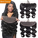 Best Ear To Ear 13x4 Full Lace Frontal Only Body Wave With Baby Hair Unprocessed Brazilian Virgin Cheap Remy Real Human Hair 4x13 Top Front Closure Pre Plucked Natural Black Color One Piece 22 inches