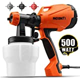 REXBETI Ultimate-750 Paint Sprayer, 500 Watt High Power HVLP Home Electric Spray Gun, 3 Nozzle Sizes, Lightweight, Easy Spraying and Cleaning
