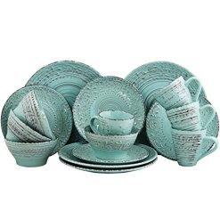 Ocean Aqua Stoneware Dinnerware Set