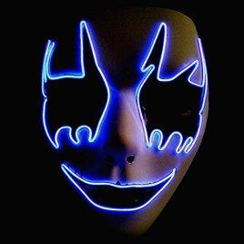 EL Wire Light Up Mask – Purple