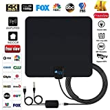 Antenna TV Digital HD indoor - 2019 Newest Digital Antenna for HDTV 120 Miles Range, Support 4K 1080p, HDTV Antenna indoor with 18ft Coax Cable, TV Antennas for Digital tv indoor, Best One by SohoTech