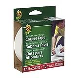 Duck 286373 Indoor/Outdoor Carpet Tape, 1.41-Inch x 42 Feet, White