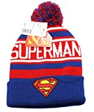 Superman Blue & White Pom Pom Beanie