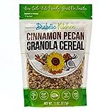 Diabetic Kitchen Cinnamon Pecan Granola Cereal, 3g Net Carbs, No Sugar Added, Keto Friendly, Low Carb, Gluten-Free, High Fiber, Non-GMO, No Artificial Sweeteners or Sugar Alcohols Ever (11 oz)