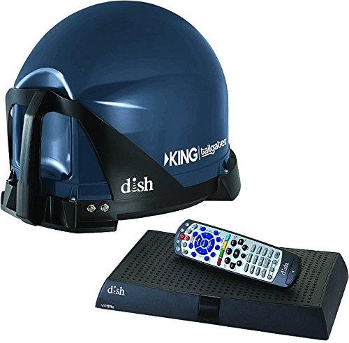 KING Multiple TV Viewing Tailgater Kit with Dish HD Receiver Home Audio Crossover, Black (VQ4510)