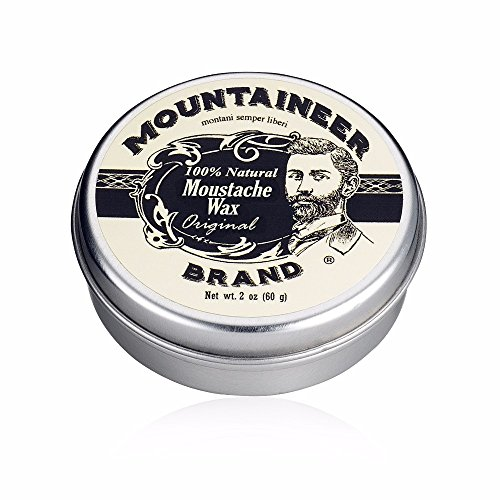 Mustache Wax by Mountaineer Brand (2oz) | All-Natural Beeswax and Plant-Based Oils for Moustache | No Petroleum Chemicals | Original Cedar Fir Scent