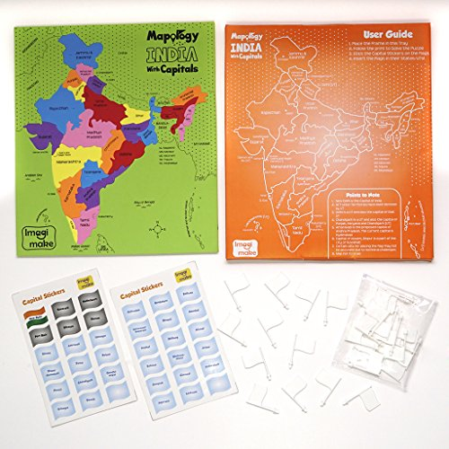 Imagimake Mapology India With State Capitals - Educational Toy And Learning Aid Puzzle-Jigsaw Puzzle 4