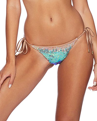 51zOs7SvzzL Ombre sequin string bikini Low rise bikini bottom with full sequin front Adjustable ties on each side