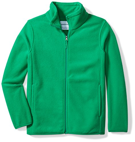 Amazon Essentials Big Boys' Full-Zip Polar Fleece Jacket, Kelly Green, XX-Large