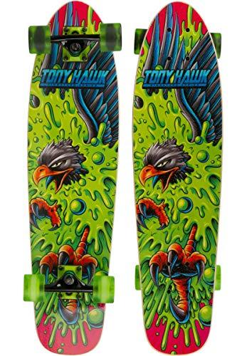 TONY HAWK 31' Complete Cruiser Skateboard - Slime Hawk Graphic Longboard